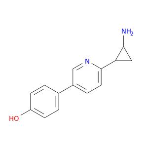 NC1CC1c1ccc(cn1)c1ccc(cc1)O