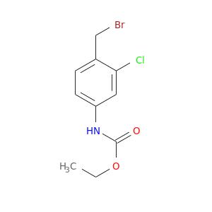 CCOC(=O)Nc1ccc(c(c1)Cl)CBr