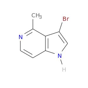 Brc1c[nH]c2c1c(C)ncc2