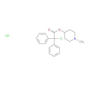 CN1CCC(CC1)OC(=O)C(c1ccccc1)(c1ccccc1)Cl.Cl