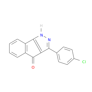 Clc1ccc(cc1)c1n[nH]c2c1C(=O)c1c2cccc1