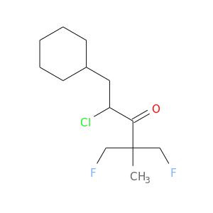 FCC(C(=O)C(CC1CCCCC1)Cl)(CF)C