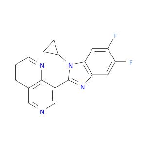 Fc1cc2c(cc1F)nc(n2C1CC1)c1cncc2c1nccc2