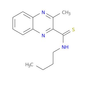 CCCCNC(=S)c1nc2ccccc2nc1C