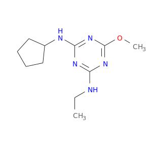 CCNc1nc(NC2CCCC2)nc(n1)OC