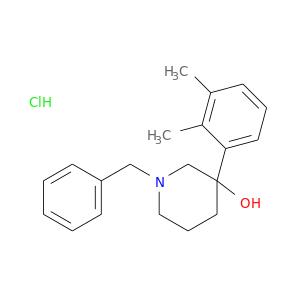 Cc1c(C)cccc1C1(O)CCCN(C1)Cc1ccccc1.Cl