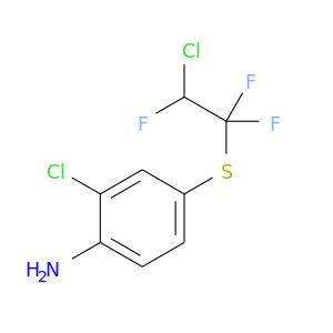 FC(C(Sc1ccc(c(c1)Cl)N)(F)F)Cl