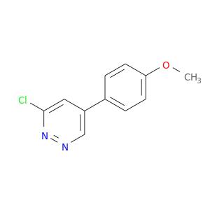 COc1ccc(cc1)c1cnnc(c1)Cl
