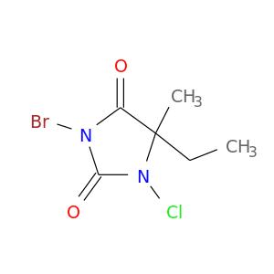 CC1(CC)N(Cl)C(=O)N(C1=O)Br