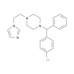 Clc1ccc(cc1)C(c1ccccc1)N1CCN(CC1)CCn1cncc1
