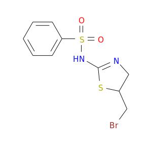 BrCC1CN=C(S1)NS(=O)(=O)c1ccccc1