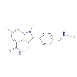 CNCc1ccc(cc1)c1[nH]c2c3c1CCNC(=O)c3cc(c2)F