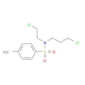 ClCCCN(S(=O)(=O)c1ccc(cc1)C)CCCl