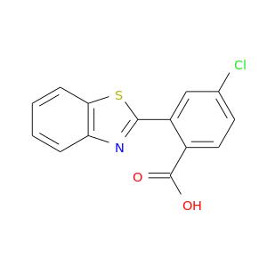 Clc1ccc(c(c1)c1nc2c(s1)cccc2)C(=O)O