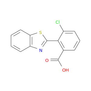 Clc1cccc(c1c1nc2c(s1)cccc2)C(=O)O