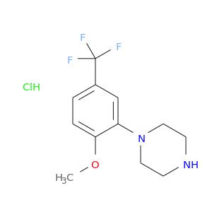 COc1ccc(cc1N1CCNCC1)C(F)(F)F.Cl