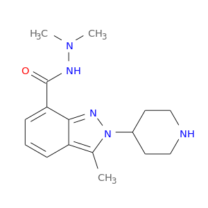 CN(NC(=O)c1cccc2c1nn(c2C)C1CCNCC1)C