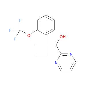 OC(C1(CCC1)c1ccccc1OC(F)(F)F)c1ncccn1