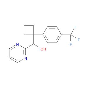 OC(C1(CCC1)c1ccc(cc1)C(F)(F)F)c1ncccn1