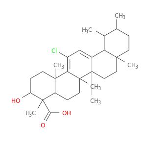 CC1CCC2(C(C1C)C1=CC(=C3C(C1(CC2)C)(C)CCC1C3(C)CCC(C1(C)C(=O)O)O)Cl)C