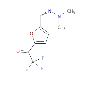 CN(N=Cc1ccc(o1)C(=O)C(F)(F)F)C
