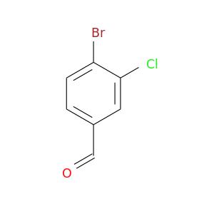 O=Cc1ccc(c(c1)Cl)Br