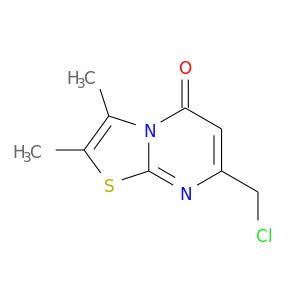 ClCc1cc(=O)n2c(n1)sc(c2C)C