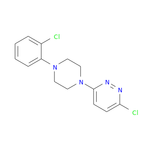 Clc1ccc(nn1)N1CCN(CC1)c1ccccc1Cl
