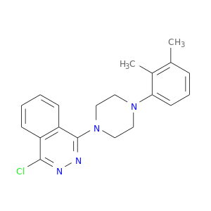 Cc1c(C)cccc1N1CCN(CC1)c1nnc(c2c1cccc2)Cl