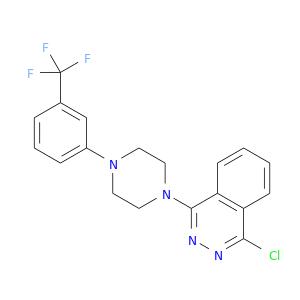 Clc1nnc(c2c1cccc2)N1CCN(CC1)c1cccc(c1)C(F)(F)F