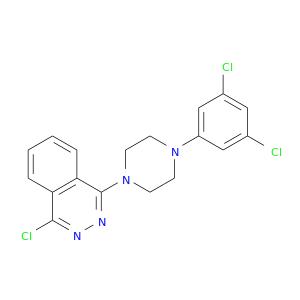 Clc1cc(Cl)cc(c1)N1CCN(CC1)c1nnc(c2c1cccc2)Cl