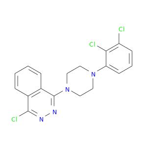 Clc1c(Cl)cccc1N1CCN(CC1)c1nnc(c2c1cccc2)Cl