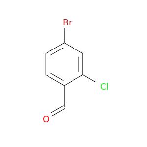 O=Cc1ccc(cc1Cl)Br