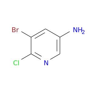 Nc1cnc(c(c1)Br)Cl