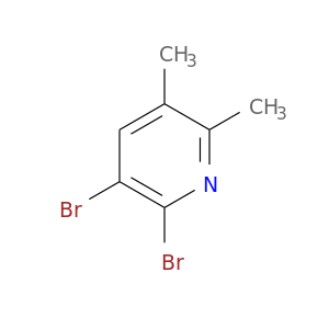 Cc1nc(Br)c(cc1C)Br