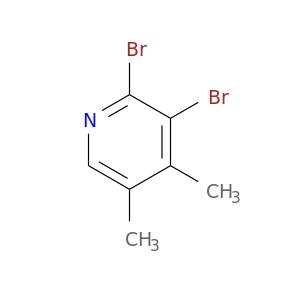 Cc1cnc(c(c1C)Br)Br