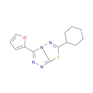 C1CCC(CC1)c1nn2c(s1)nnc2c1ccco1