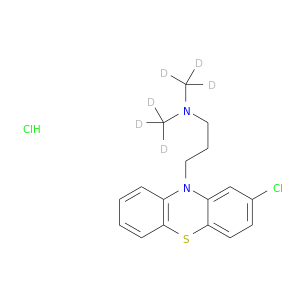 Clc1ccc2c(c1)N(CCCN(C([2H])([2H])[2H])C([2H])([2H])[2H])c1c(S2)cccc1.Cl