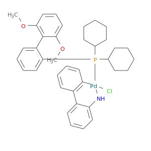 COc1cccc(c1c1ccccc1P([Pd]1(Cl)Nc2ccccc2c2c1cccc2)(C1CCCCC1)C1CCCCC1)OC