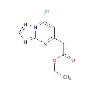 CCOC(=O)Cc1cc(Cl)n2c(n1)ncn2