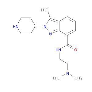 CN(CCNC(=O)c1cccc2c1nn(c2C)C1CCNCC1)C