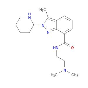 CN(CCNC(=O)c1cccc2c1nn(c2C)C1CCCCN1)C