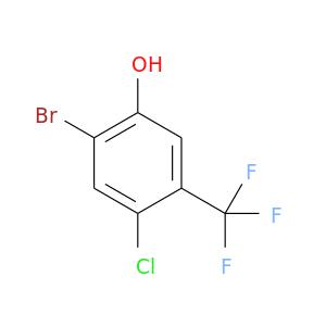 Clc1cc(Br)c(cc1C(F)(F)F)O