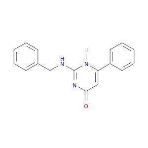 O=c1nc(NCc2ccccc2)[nH]c(c1)c1ccccc1