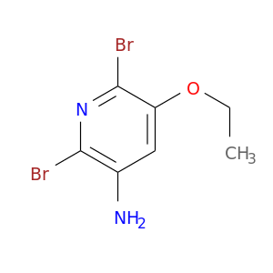 CCOc1cc(N)c(nc1Br)Br