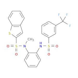 CN(S(=O)(=O)c1cc2c(s1)cccc2)c1ccccc1NS(=O)(=O)c1cccc(c1)C(F)(F)F