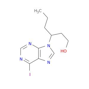 CCCC(n1cnc2c1ncnc2I)CCO