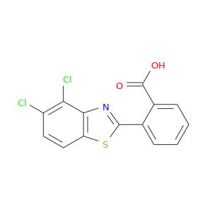 OC(=O)c1ccccc1c1sc2c(n1)c(Cl)c(cc2)Cl
