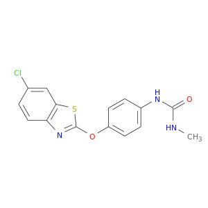 CNC(=O)Nc1ccc(cc1)Oc1nc2c(s1)cc(cc2)Cl