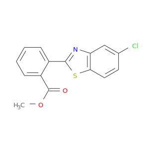 COC(=O)c1ccccc1c1nc2c(s1)ccc(c2)Cl